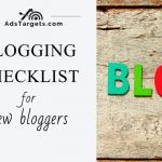 Blogging Checklist for New Bloggers