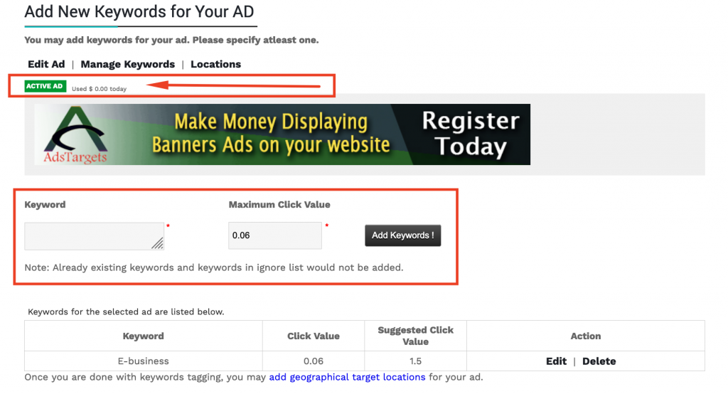 How To Create PPC Ad Campaign In Advertiser Admin Area