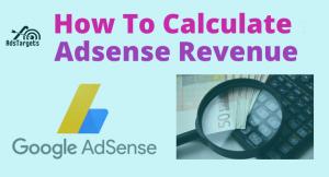Calculate Adsense revenue