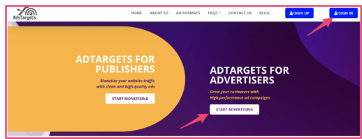 AdsTargers Display Ad Network