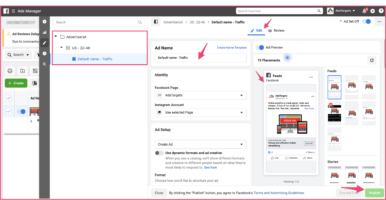 Edit Ads in Facebook Ads Manager