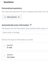 questions and personalized questions