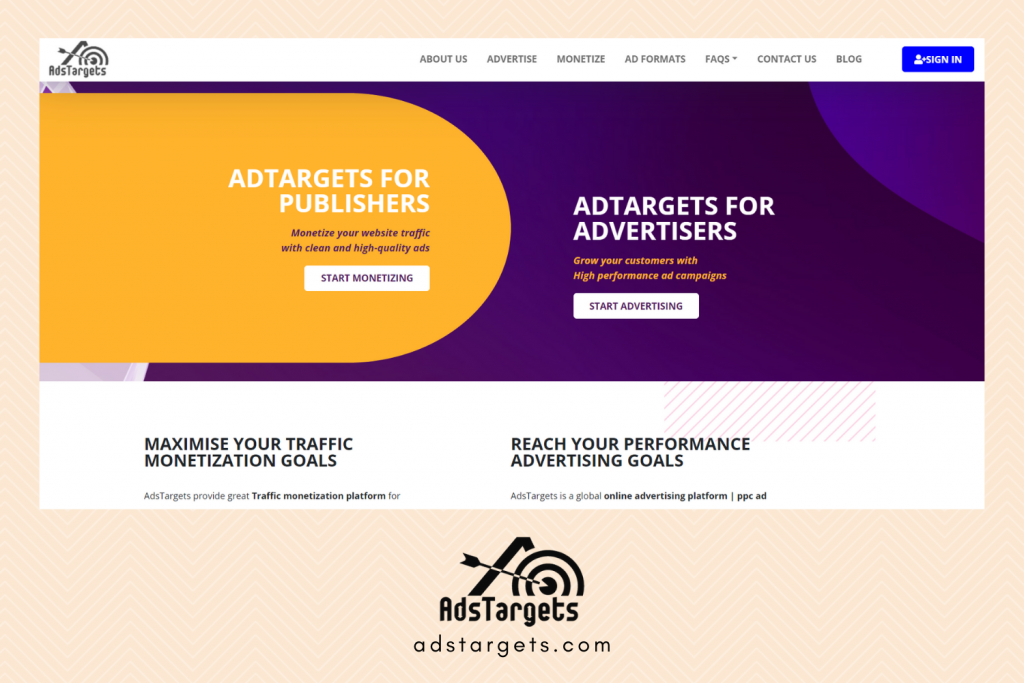 Adstargets Advertising site