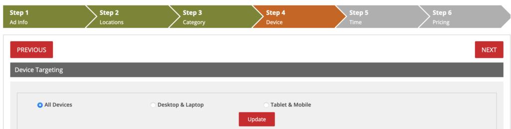 PPC marketing Device targeting