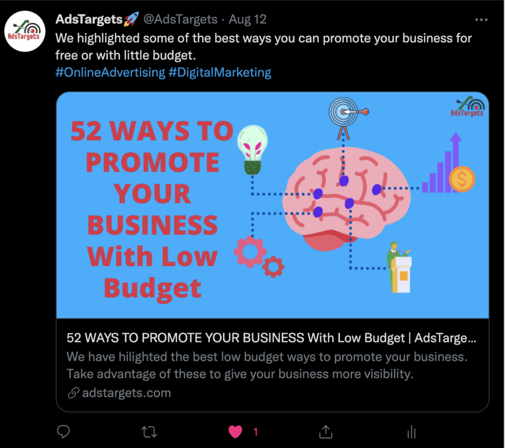 AdsTargets Twitter Account