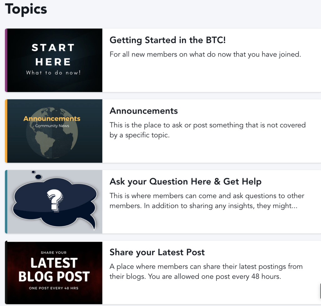 Blogger community topics to share blog posts