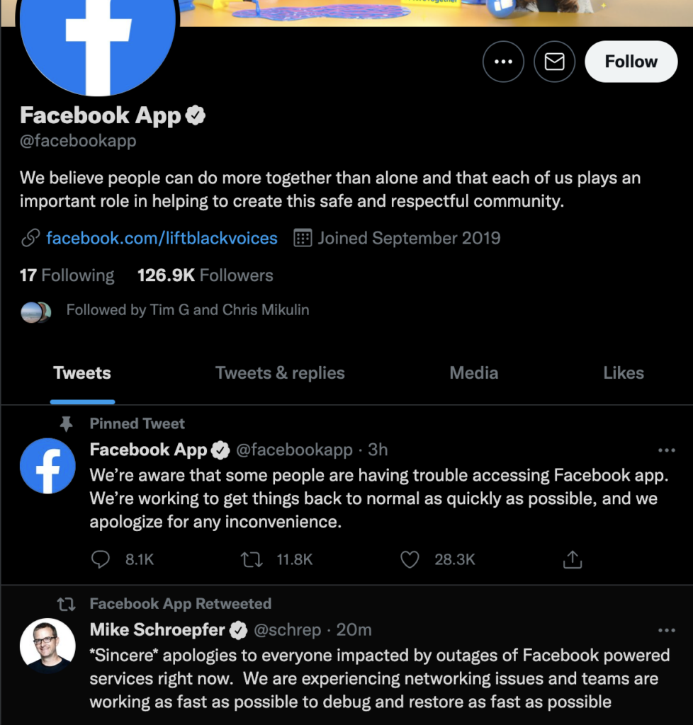 Facebook Down for hours 04.10,2021