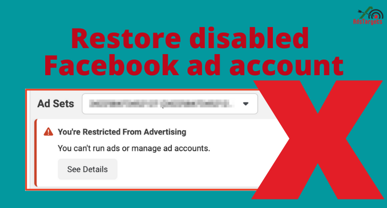 Facebook ad account disabled